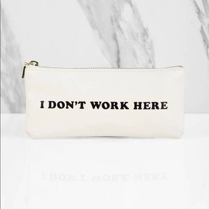 Ban.do I don't work here pouch bag case